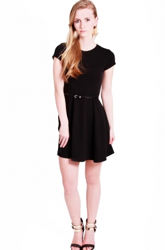 FFOMO kendra skater Dress with belt.