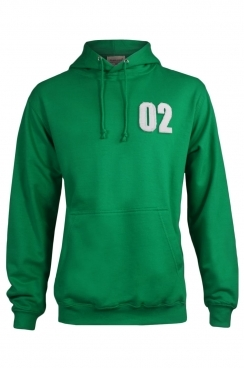 Kenneth 02 Applique Patch Pullover Green Hoodie