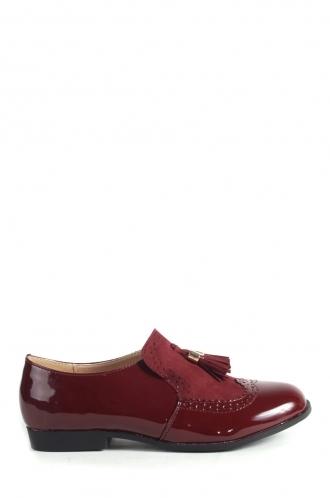 FFOMO Khloe Burgundy Patent loafers