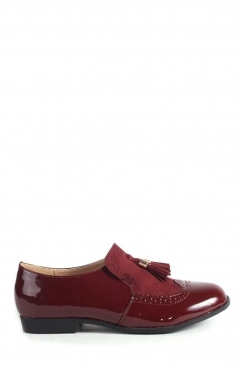 Khloe Burgundy Patent loafers