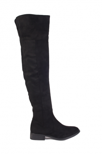 FFOMO Laura Black Over the knee boots