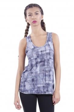 Layla Squared Print Sporty Vest