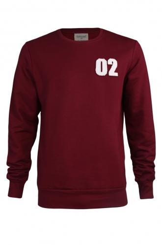 FFOMO Lee 02 Applique Patch Burgundy Sweatshirt