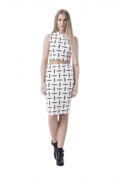 Lexy White and Black  Checked Co-ord