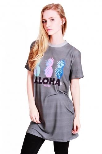 FFOMO Lila Aloha pineapple t-shirt dress