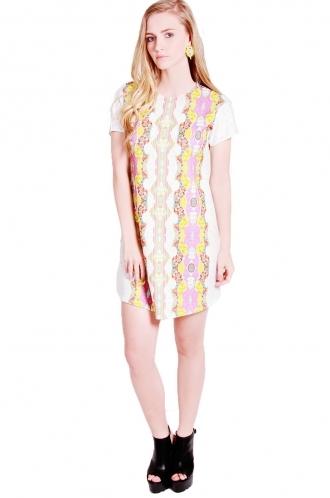 FFOMO lizzie shift dress with Drop shoulder