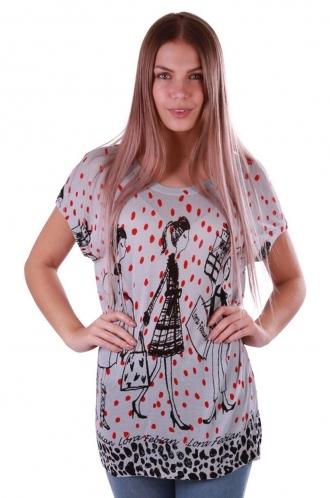 FFOMO Lizzy Sketch Print Poker Dot Knitted Top