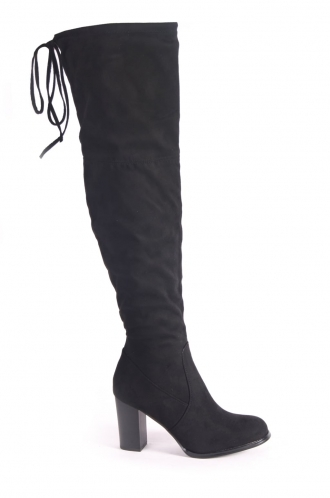 FFOMO Lottie Over the knee black boots