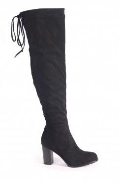 Lottie Over the knee black boots