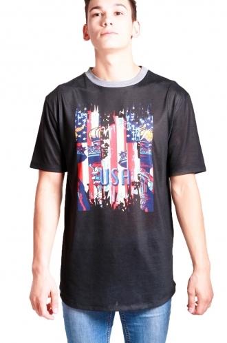 FFOMO Luke USA Print Classic Fit T-shirt