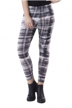 Macy Mono Watercolour Check Leggings