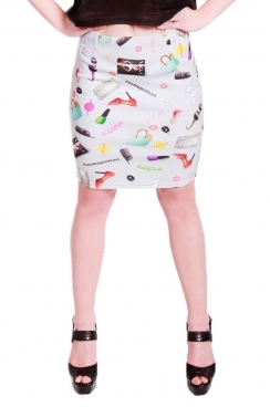 Maize short skirt
