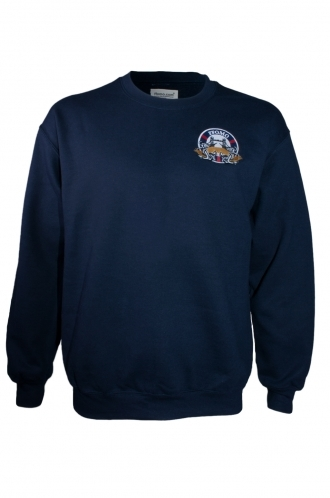 FFOMO Mark London embroidery Navy Sweatshirt