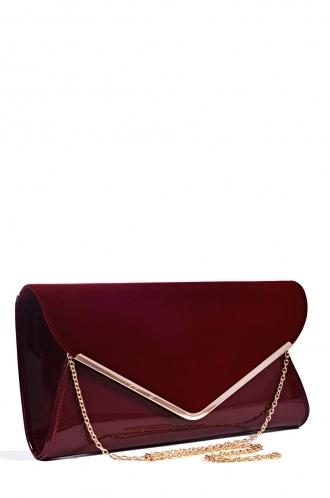 FFOMO Maroon Oversized Envelope Clutch Bag