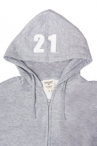 FFOMO Mason 21 Applique Hood Patch Zipped Hoodie