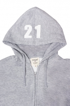 Mason 21 Applique Hood Patch Zipped Hoodie