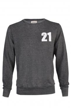 Matt 21 Applique Patch Dark Grey Sweatshirt