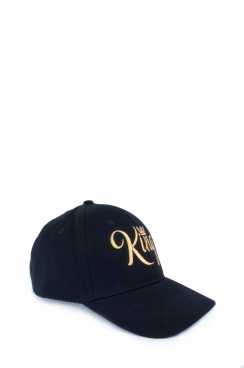 Mens Black King Embroidered Cap