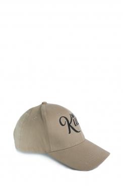 Mens Khaki King Embroidered Cap