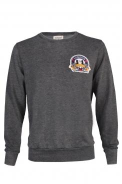 Mick London Embroidered Patch Dark Grey Sweatshirt