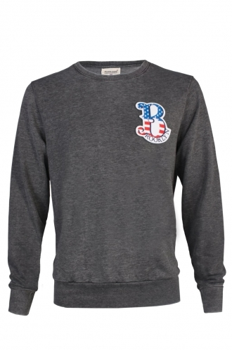 FFOMO Mike Brooklyn Embroidered Patch Dark Grey Sweatshirt