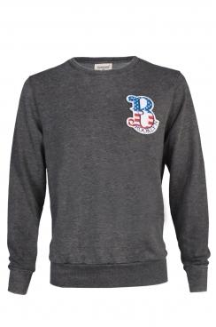 Mike Brooklyn Embroidered Patch Dark Grey Sweatshirt