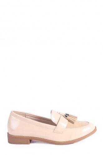 FFOMO Miya Slip on Patent Beige Loafers