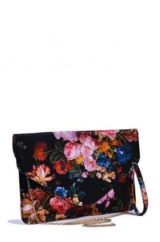 FFOMO Multi Coloured Floral Oversized Envelope Clutch Bag