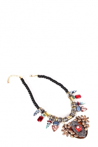 FFOMO Multicoloured Gem Rope Necklace