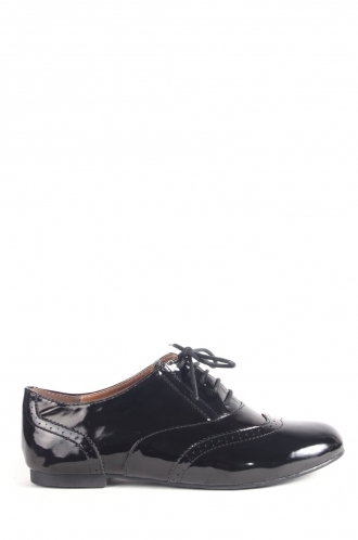 FFOMO Naomi Black Patent lace up brogues