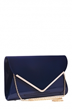 Navy Oversized Envelope Clutch Bag