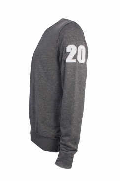 Ned 20 Applique Arm Patch Dark Grey Sweatshirt