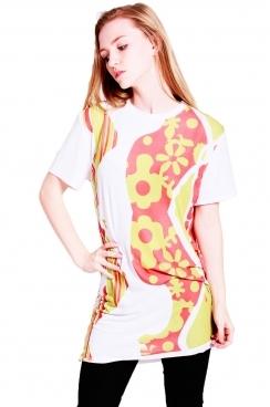 Nikita t-shirt dress with bold print.