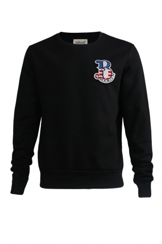 FFOMO Noah Brooklyn Embroidered Patch Black Sweatshirt