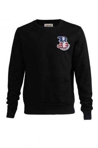 FFOMO Noah Brooklyn Embroidered Patch Black Sweatshirt