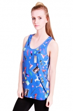 Nora vest fashion print