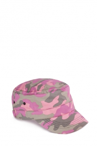 FFOMO Olivia Pink Army Cap In Camo