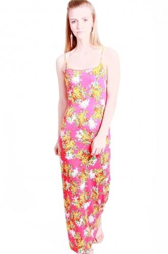 FFOMO Opal Floral Strappy Maxi Dress