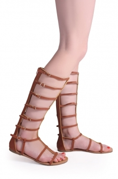 Opal high knee gladiator sandals