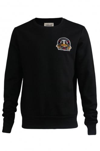 FFOMO Oscar London Embroidered Patch Black Sweatshirt