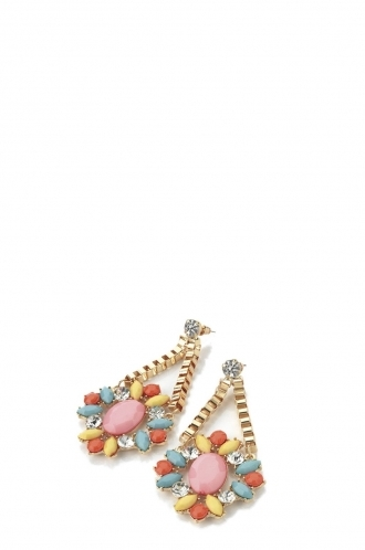 FFOMO Pastel and Gold Bead Earrings