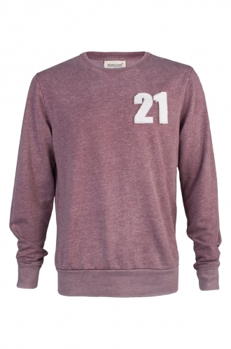 FFOMO Pete 21 Applique Patch Faded Burgundy Sweatshirt