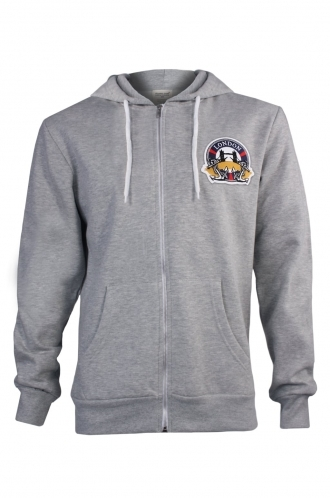 FFOMO Phillip London Embroidered Patch Metal Zipped Hoodie