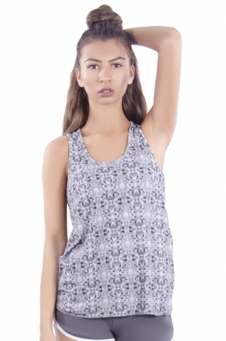 FFOMO Phoebe mirrored Patterned Sporty Vest