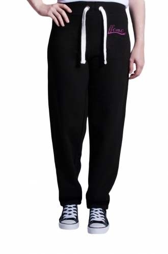 FFOMO Pink Embroidered Black Jogger
