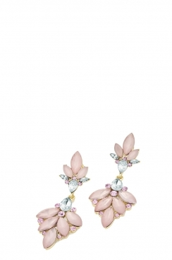 Pink Frosted Bead Earring