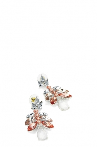FFOMO Pink Tone Acrylic Bead Earring
