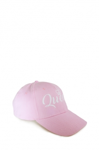 FFOMO Pink Womens Queen Embroidery Cap