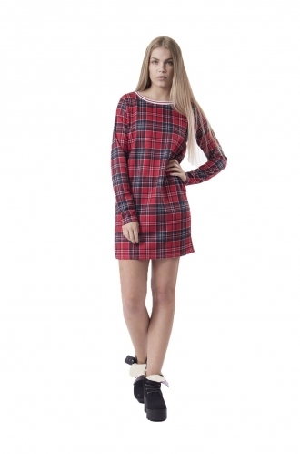 FFOMO Pippa Red Tartan Shift Dress