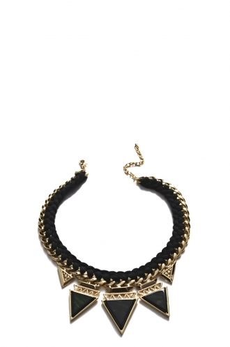 FFOMO Plated Black and Gold Chain Necklace